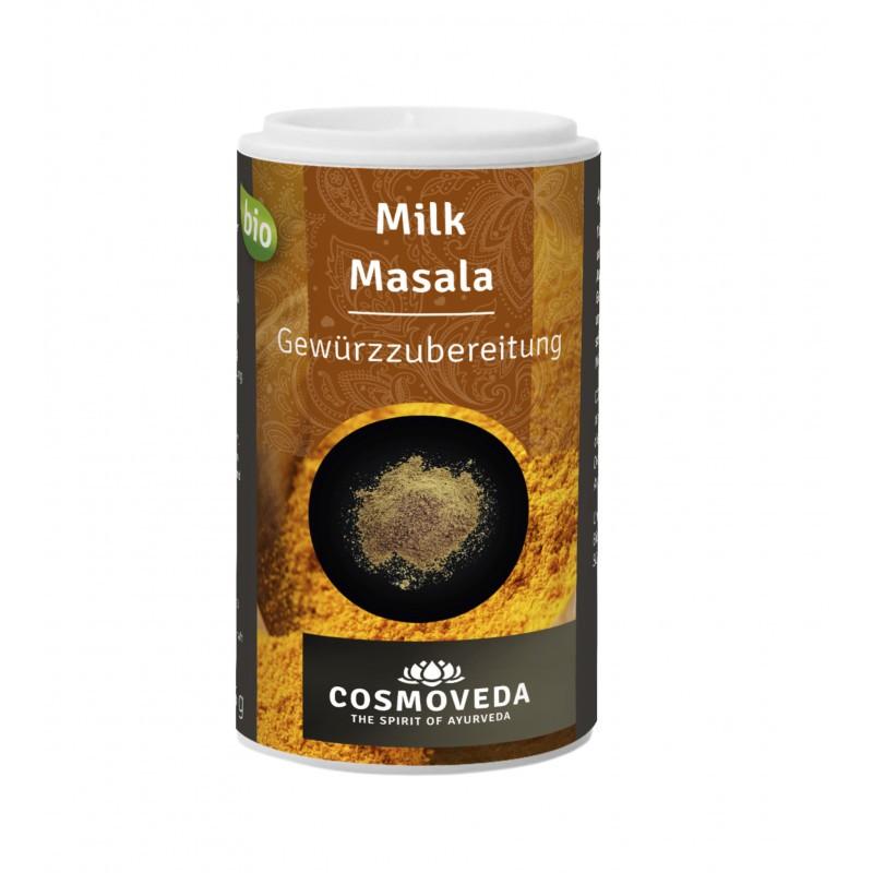 Ekologiškas prieskonių mišinys pienui Milk Masala, Cosmoveda, 25g