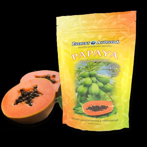 Džiovinti papajos vaisiai PAPAYA, Everest Ayurveda, 100g
