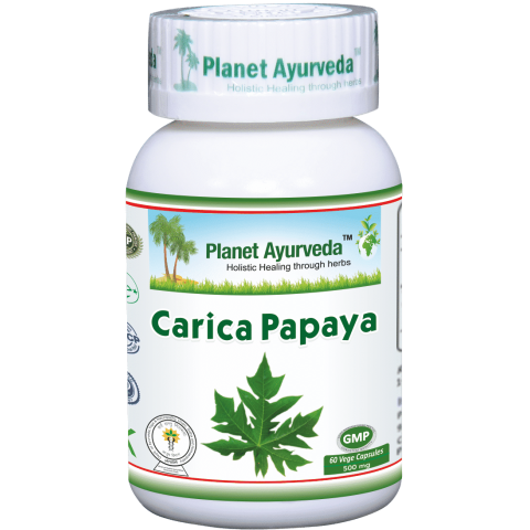 Maisto papildas Carica Papaya, Planet Ayurveda, 60 kapsulių