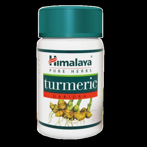 Maisto papildas Turmeric, Himalaya, 60 kapsulių
