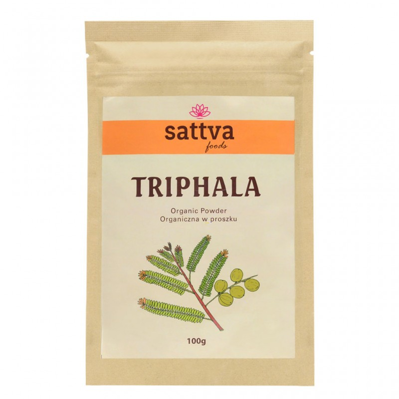 Triphala mišinys, milteliai, Sattva Ayurveda, 100g
