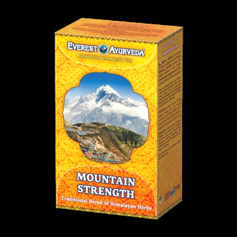 Atpalaiduojanti ajurvedinė Himalajų arbata MOUNTAIN STRENGTH SHERPA, biri, Everest Ayurveda, 100g