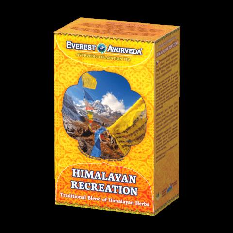 Atpalaiduojanti ajurvedinė Himalajų arbata HIMALAYAN RECREATION NEPAL, biri, Everest Ayurveda, 100g