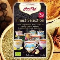 """Arbatų rinkinys """"Finest Selection"""", ekologiškas, Yogi Tea, 18 pakelių"""