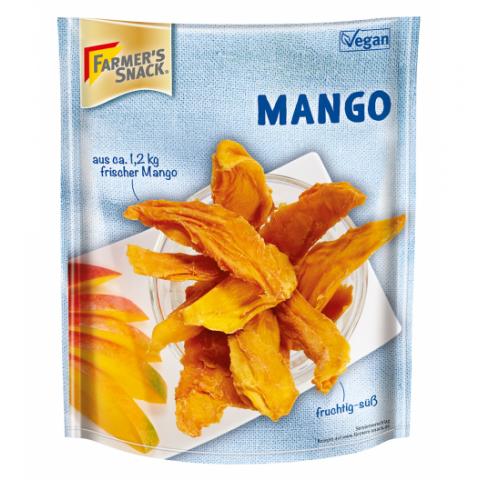 Džiovintos mango juostelės, Farmer's Snack, 100g