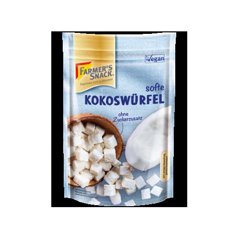 Kokosų kubeliai, Farmer's Snack, 100g