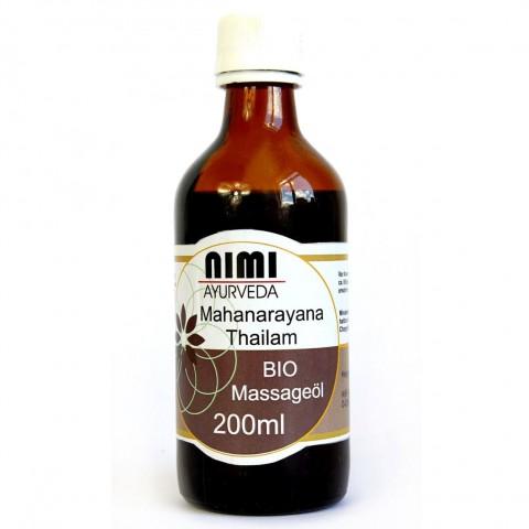 Ekologiškas masažo aliejus sąnariams Mahanarayan, Nimi Ayurveda, 200 ml