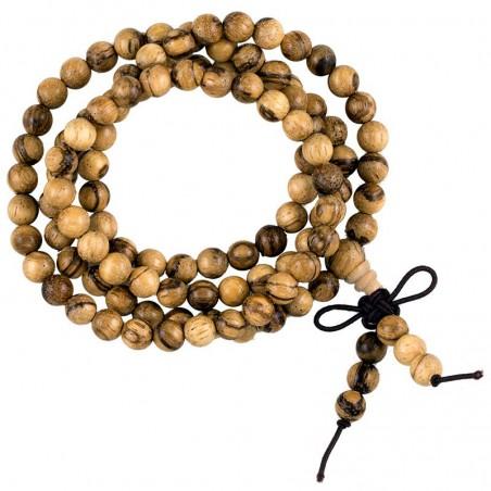 Elastingi agarmedžio maldos karoliai Agilawood, 108 karoliukai, 0.6cm