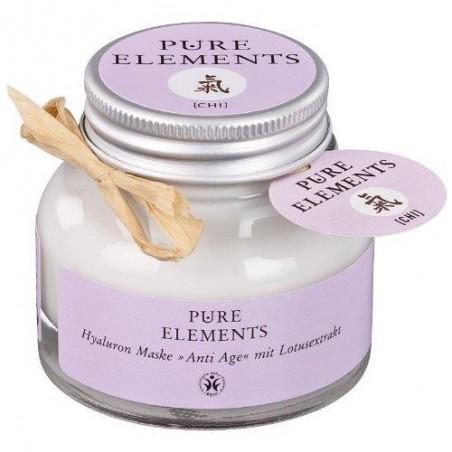 Veido kaukė su hialuronu ir lotoso ekstraktu Chi Anti Age, Pure Elements, 50ml