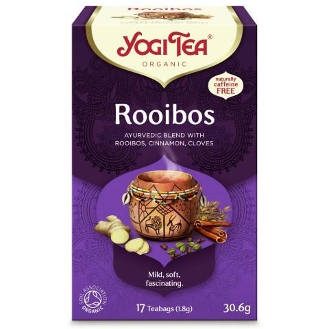 Ajurvedinė arbata Rooibos, Yogi Tea, 17 pakelių
