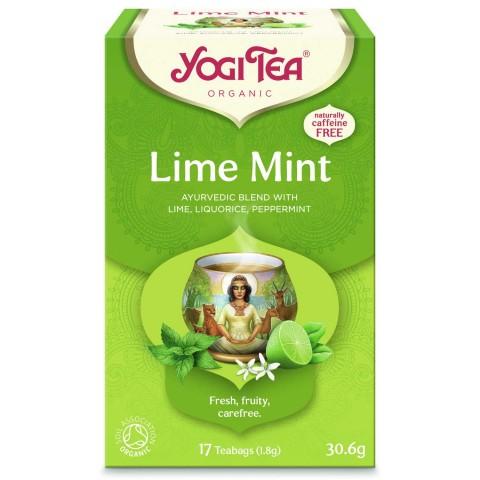 Laimo-mėtų arbata Lime Mint, Yogi Tea, 17 pakelių