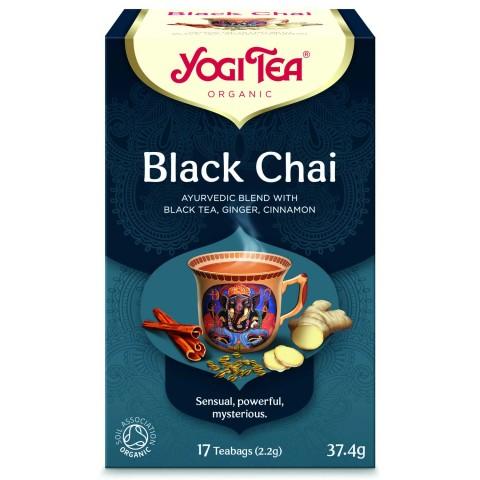 Prieskoninė juodoji arbata Black Chai, Yogi Tea, 17 pakelių