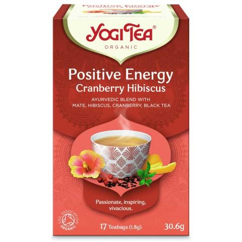 Spanguolių ir kinrožės arbata pozityviai energijai Positive Energy, Yogi Tea, 17 pakelių