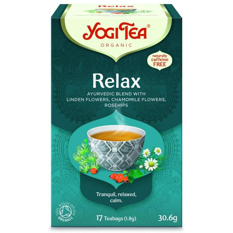 Prieskoninė raminanti ajurvedinė arbata Relax, ekologiška, Yogi Tea, 17 pakelių