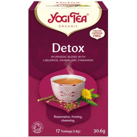 Prieskoninė ajurvedinė arbata Detox, Yogi Tea, 17 pakelių