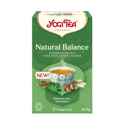 Prieskoninė natūralaus balanso arbata Natural Balance, Yogi Tea, ekologiška, 17 pakelių