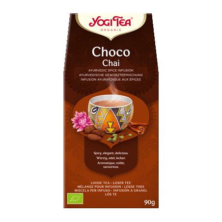 Šokoladinė prieskoninė ajurvedinė arbata, ekologiška, biri, Yogi Tea, 90g