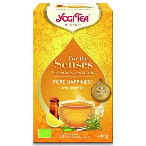 Arbata su eteriniais aliejais Pure Happiness (Gryna laimė), Yogi Tea, 20 pakelių