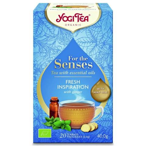 Arbata su eteriniais aliejais Fresh Inspiration (Šviežias įkvėpimas), Yogi Tea, 20 pakelių