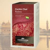 """Prieskoninė  roiboos arbata """"Cochin Chai"""", ekologiška, Cosmoveda, 20 pakelių"""