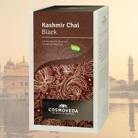 """Prieskoninė  juodoji arbata """"Kashmir Chai"""", ekologiška, Cosmoveda, 20 pakelių"""