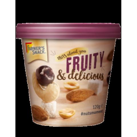 Riešutų ir džiovintų vaisių mišinys Fruity&delicious, Farmer's Snack, 120g