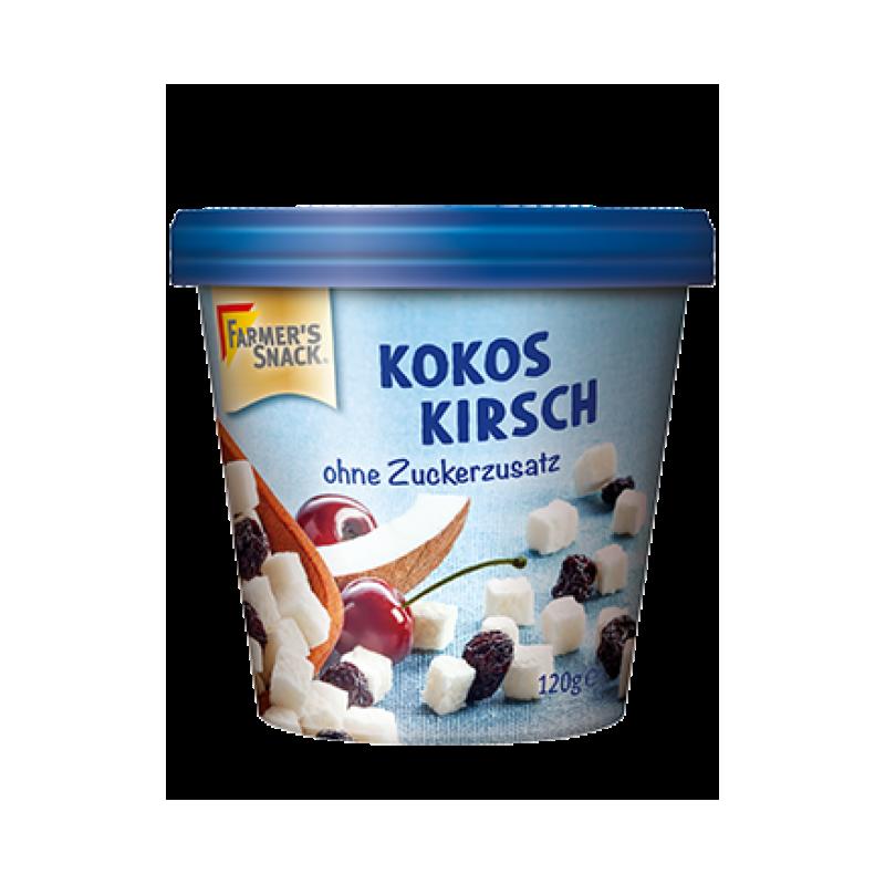 Kokosų kubeliai su džiovintomis vyšniomis Kokos Kirsch, Farmer's Snack, 120g
