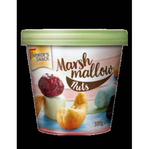 Riešutai ir džiovinti vaisiai su zefyrais Marshmallow Nuts, Farmer's Snack, 120g