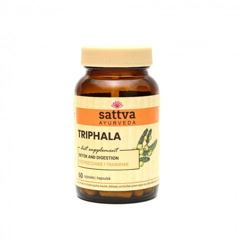 Maisto papildas Triphala, Sattva Ayurveda, 60 kapsulių