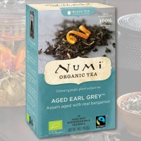 Natūrali brandinta Earl Grey Numi Tea arbata, 18 pakelių
