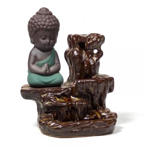 """Atbulinio smilkimo """"krioklio efekto"""" (""""backflow"""") laikiklis Little Buddha"""