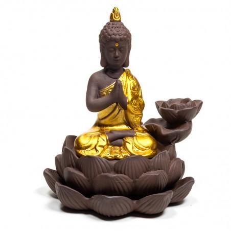 "Atbulinio smilkimo ""krioklio efekto"" (backflow) laikiklis Buddha"