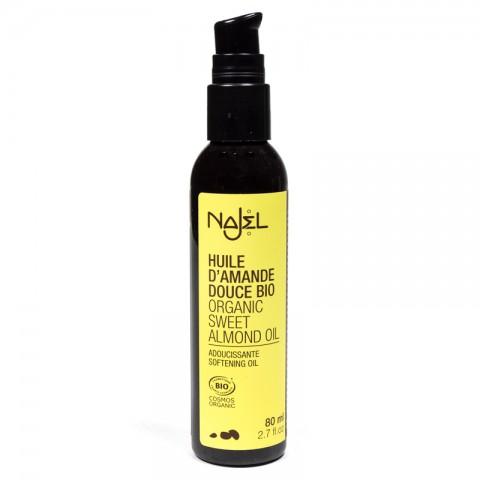 Ekologiškas migdolų aliejus odos priežiūrai ir masažui Sweet Almond, Najel, 80ml