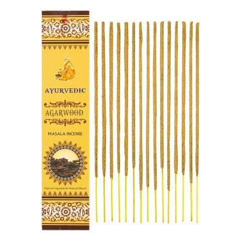 Smilkalų lazdelės Agarwood, Ayurvedic,15 g