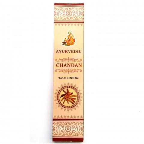 Smilkalų lazdelės Chandan, Ayurvedic,15 g