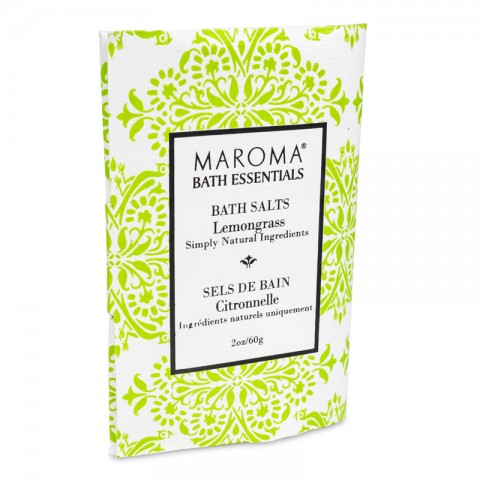 Vonios druska su citrinžole Lemongrass, Maroma, 60g