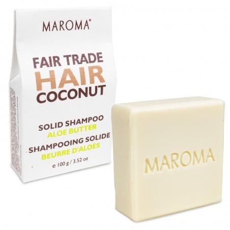 Kietas šampūnas Coconut & Aloe, Maroma, 100g