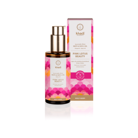 Kūno odos aliejus Pink Lotus Beauty Elixir, Khadi Naturprodukte, 100ml