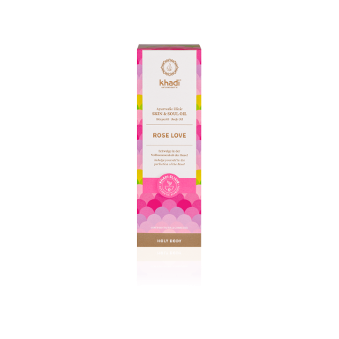 Kūno odos aliejus Rose Love Elixir, Khadi Naturprodukte, 100ml