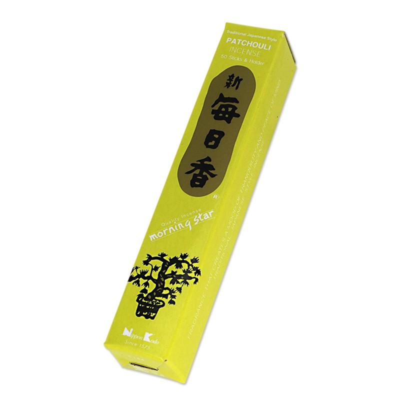 Tradicinės japoniškos smilkalų lazdelės Morning Star Patchouli, 50 lazdelių