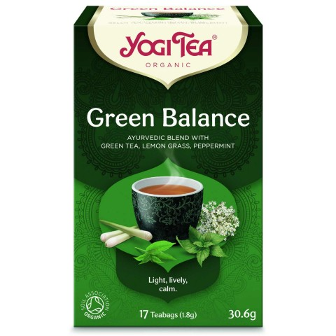 Žalioji prieskoninė arbata Green Balance, Yogi Tea, ekologiška, 17 pakelių