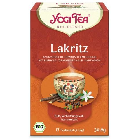Prieskoninė saldymedžio arbata Licorice, Yogi Tea, ekologiška, 17 pakelių