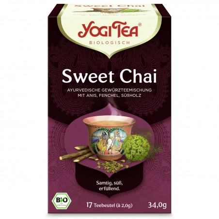 Prieskoninė arbata Sweet Chai, Yogi Tea, ekologiška, 17 pakelių