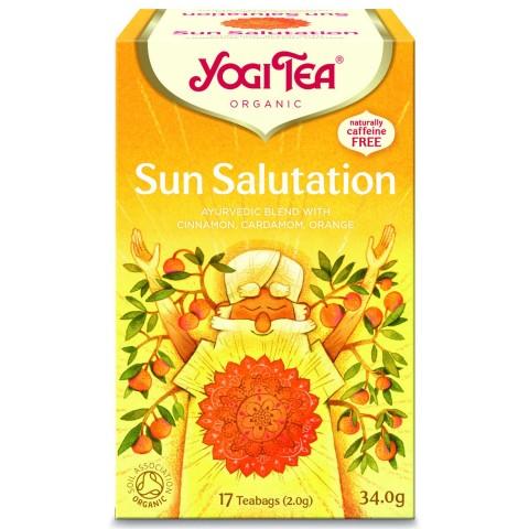 Prieskoninė arbata Sun Salutation, Yogi Tea, ekologiška, 17 pakelių