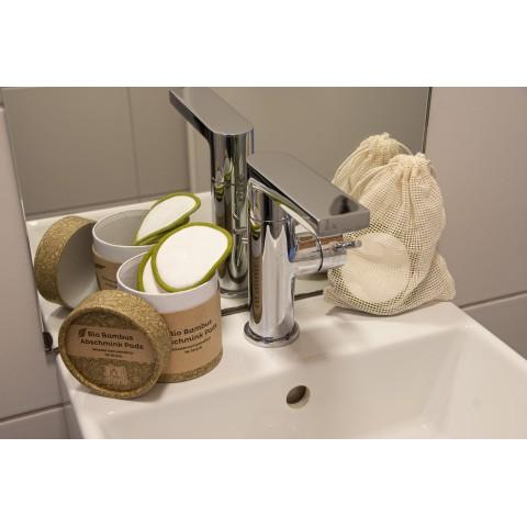 Ekologiški bambukiniai plaunami makiažo valymo diskai