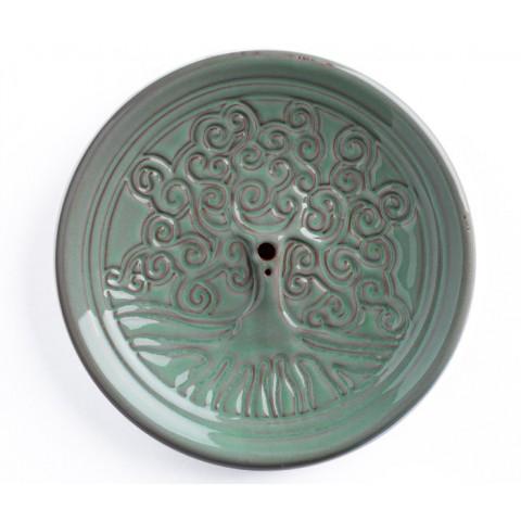Yggdrasil smilkalų laikiklis, molinis, turkio spalvos, 14cm