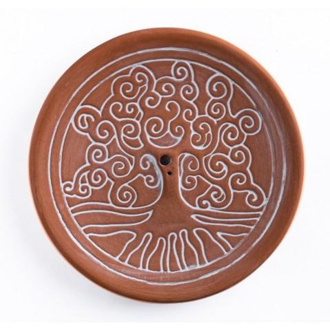 Yggdrasil smilkalų laikiklis, molinis, rudos spalvos, 14cm