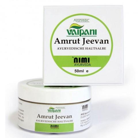 Ajurvedinis vaistažolių odos tepalas-kremas Amrut Jeevan, VAIPANI Nimi Ayurveda, 50 ml