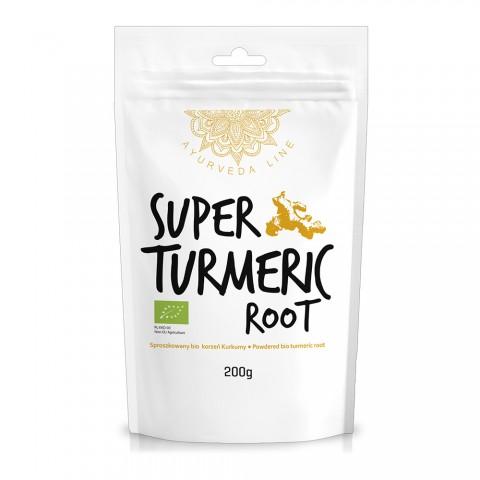 Ciberžolės šaknies milteliai Super Turmeric Root, ekologiški, Ayurveda Line, 200g