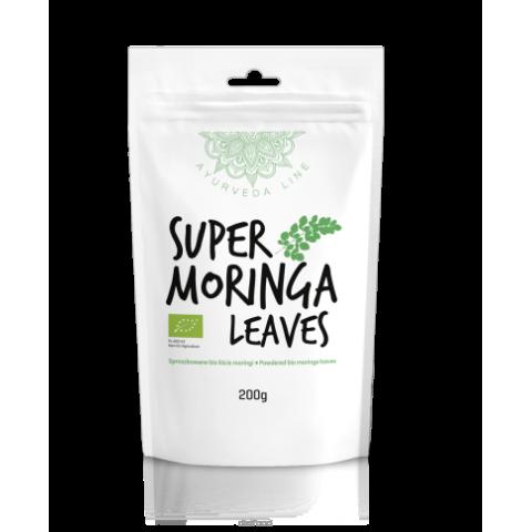 Moringos lapų milteliai Super Moringa Leaves, ekologiški, Ayurveda Line, 200g